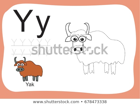 Letter Y is for Yak cartoon alphabet for children Stock photo © robuart