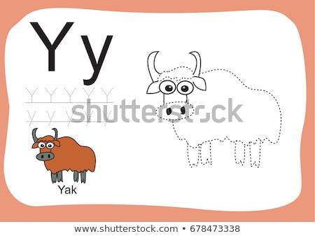 alfabeto · carta · menina · crianças · maçã · estudante - foto stock © robuart