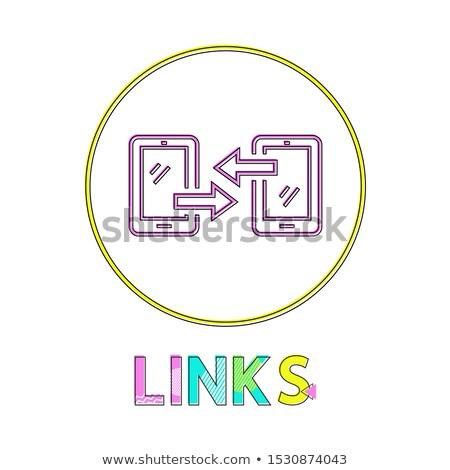 Modernen Gadgets linear Symbole Förderung Stock foto © robuart