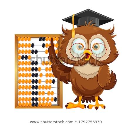 Mathématiques boulier mascotte illustration cute enseignement Photo stock © lenm