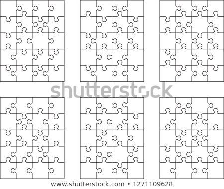 Fehér puzzle különálló darabok textúra terv Stock fotó © ratkom