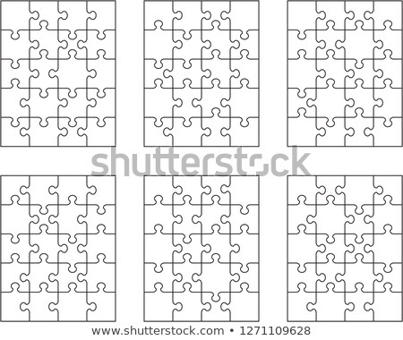 white puzzle, separate pieces Stock photo © ratkom
