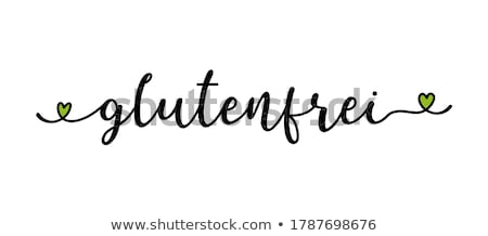 glutenvrij · tekst · dieet · geïsoleerd · woorden · vintage - stockfoto © zerbor