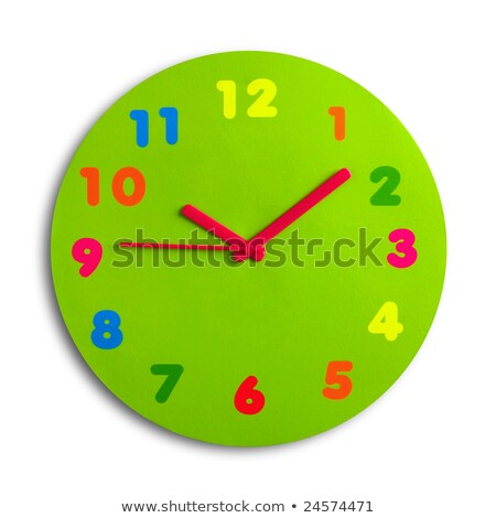 round toy clock isolated in white background  Stock photo © inxti