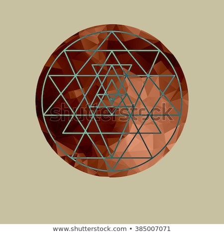 геометрия медь мандала круга дизайна Сток-фото © cienpies