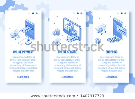 negócio · financiar · conjunto · isométrica · vetor · vertical - foto stock © Decorwithme