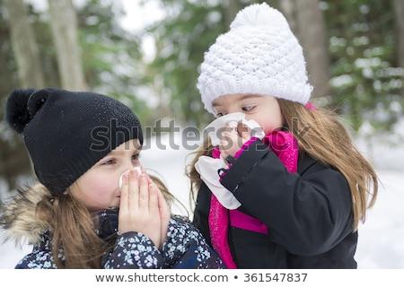 子 · 外 · 森林 · 冬季 · 少女 - ストックフォト © Lopolo