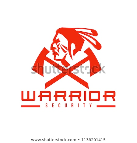 Stock photo: Native American Warrior Security Mascot