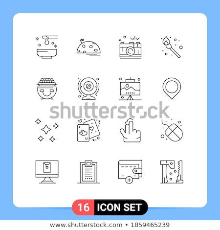 űr hold kamera fotózás alkalmazás vektor Stock fotó © vector1st