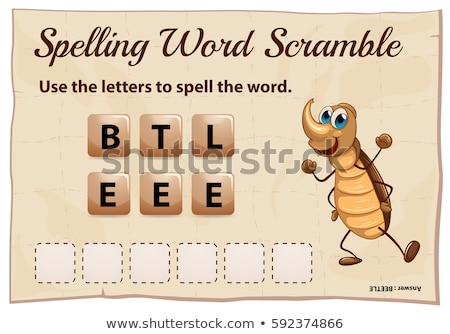 Spelling word scramble game for word beetle Stock photo © colematt