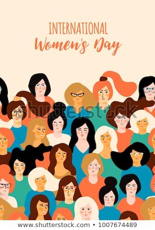 Día de la mujer hermosa diseno mujeres fondo belleza Foto stock © SArts