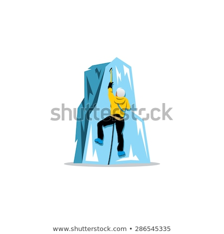 mountain man mountaineer icon vector logo Stock photo © blaskorizov