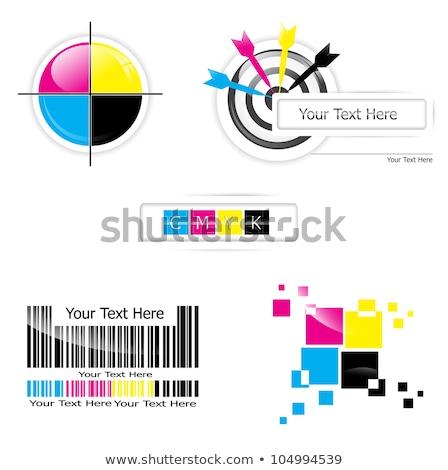 printing cmyk logo circle vector icon design Stock photo © blaskorizov