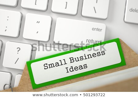 Folder Index with Small Business. 3d Rendering. Stock photo © tashatuvango