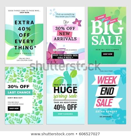 Ingesteld voorjaar verkoop web banners social media Stockfoto © ikopylov