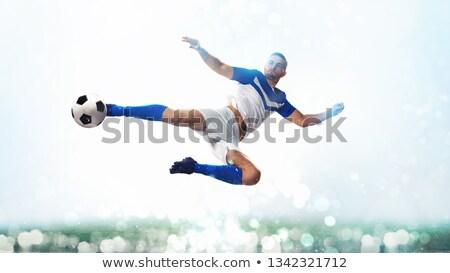 Football balle acrobatique coup air blanche Photo stock © alphaspirit