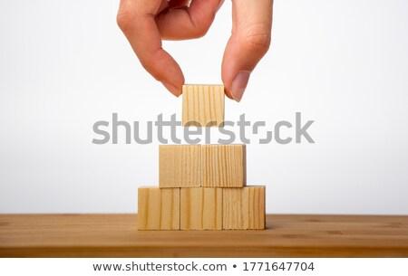 белый пирамида человека ресурсы управления Сток-фото © limbi007