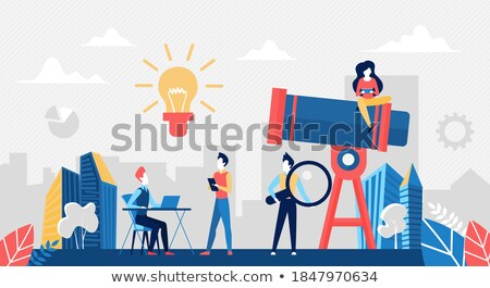 Leadership and Searching for New Ideas Posters Stock photo © robuart
