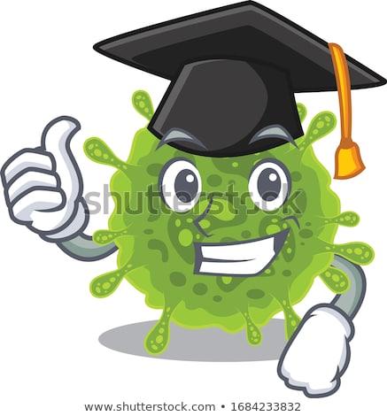 bonitinho · graduação · ilustração · pós-graduação · menina - foto stock © Blue_daemon