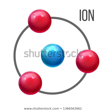Ion Atom, Molecule Education Vector Poster Template Photo stock © pikepicture