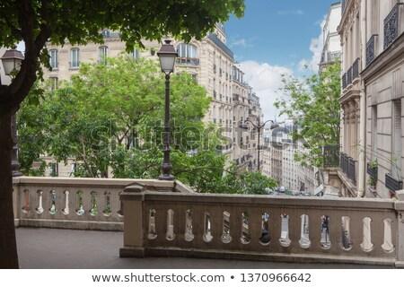 échelle colline montmartre Paris France ciel Photo stock © artjazz