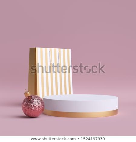 белый · подиум · сцена · розовый · градиент - Сток-фото © barbaliss