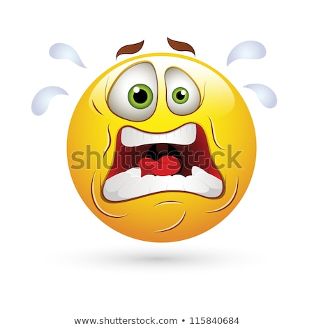 Mascot Smiley Scared Illustration Stock photo © lenm
