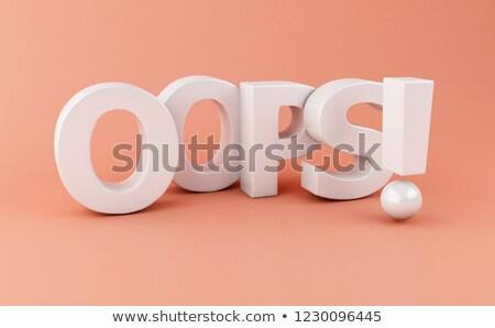 3D-Darstellung Wort 3D gerendert Illustration Hintergrund Stock foto © Spectral