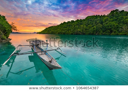 sunset over the tropical bay stock photo © moses