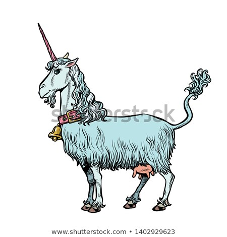 коза невероятный животного Поп-арт ретро Vintage Сток-фото © studiostoks