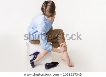 Aderen persoon been wazig Stockfoto © AndreyPopov
