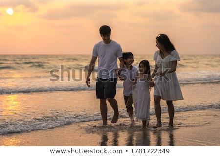 Família caminhada beira-mar praia água Foto stock © AndreyPopov