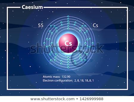 Químico átomo diagrama ilustración resumen fondo Foto stock © bluering