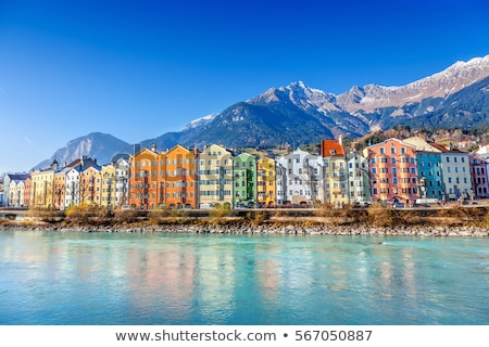 Sokak Avusturya kemer Bina şehir inşaat Stok fotoğraf © borisb17