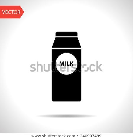 Milk vector icons pattern Stock photo © netkov1
