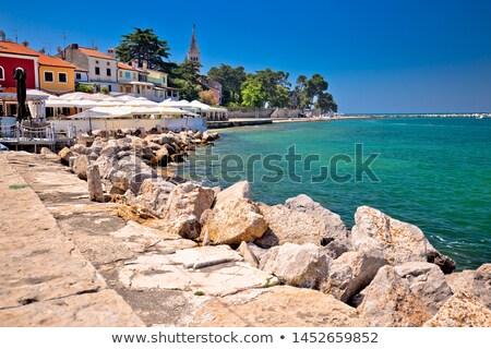 Novigrad Istarski idyllic coastline and town waterfront view Stock photo © xbrchx