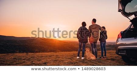 çift · hikers · başarı · dağlar · adam · kadın - stok fotoğraf © andreypopov
