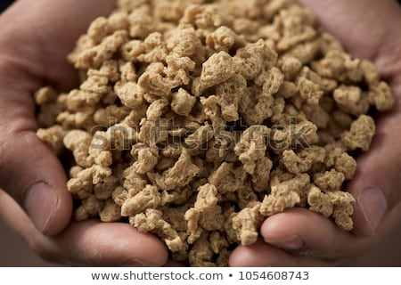 man with textured soy protein Stock photo © nito