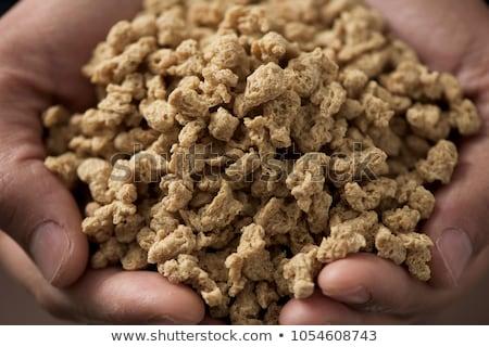 Man sojasaus eiwit handen Stockfoto © nito