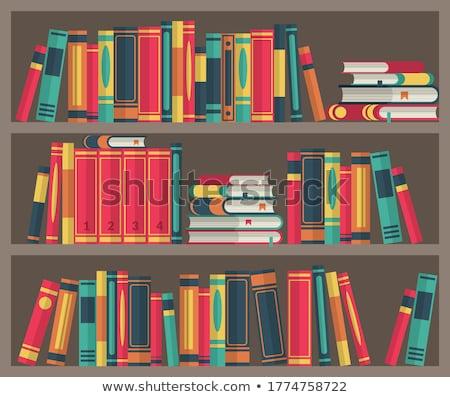 színes · igazi · könyvek · fehér · papír · iskola - stock fotó © lichtmeister