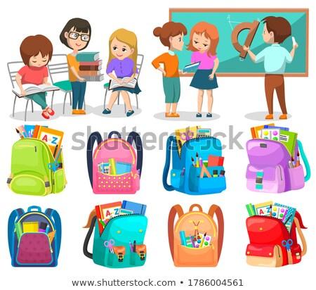 Szkoły klub uczniowie kształcić wektora Zdjęcia stock © robuart