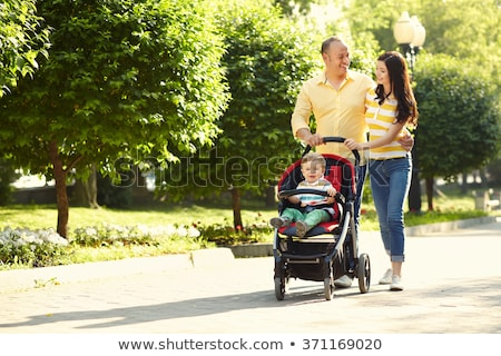 People with Pram, Family Stroll in Park Nature Stock photo © robuart