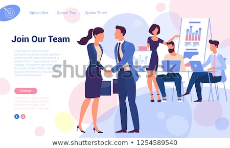 We are hiring template business man and woman Stock photo © cienpies