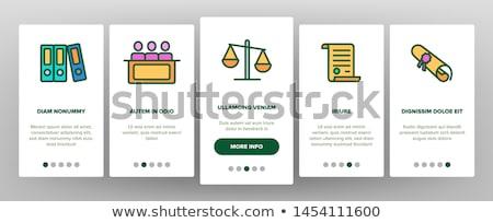 törvény · igazság · vékony · vonal · ikon · szett · modern - stock fotó © pikepicture