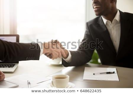 Acuerdo socios documentos vector masculina Foto stock © robuart