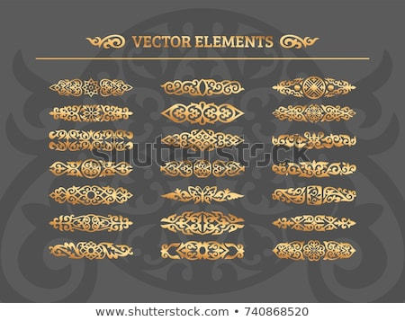Vector set of calligraphic design elements and page decoration Stock photo © blue-pen