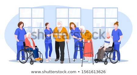 Casa de repouso hábil enfermeira idoso pessoas Foto stock © RAStudio