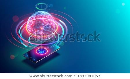 ストックフォト: ネットワーク · ビジネスの方々 · 携帯 · 技術