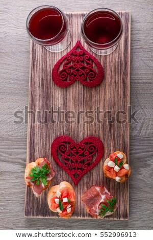 Romantique dîner amour bruschetta femme Photo stock © Illia