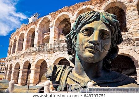 ősi Verona aréna Olaszország kilátás tájkép Stock fotó © boggy